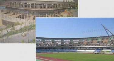 Essais sur les gradins: - Stade de 5 Juillet - Stade de Tizi-Ouzou